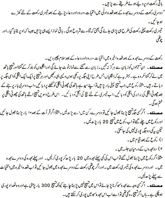Method of salatul tasbeeh